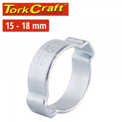 TORK CRAFT DOUBLE EAR CLAMP C/STEEL 15-18MM