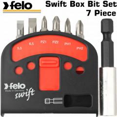 FELO SWIFT BOX BIT SET 7PCE 6 X BITS & 1 X BIT HOLDER