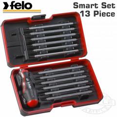FELO SMART SET 13PCS 48 IN 1 SCREWDRIVER T- HANDLE IN STRONGBOX 1/4'