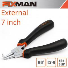 FIXMAN EXTERNAL CIRCLIP PLIERS 7'/175MM  90 DEG