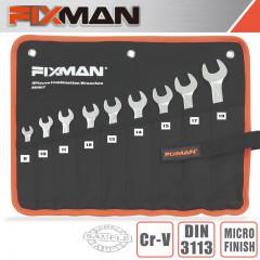 FIXMAN 9PCS COMBINATION SPANNER SET 8-10-11-12-13-14-15-17-19