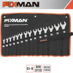 FIXMAN 14PCS COMBINATION SPANNER SET 8MM - 24MM
