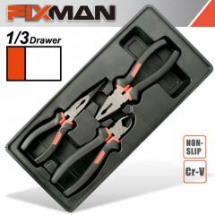 FIXMAN 3-PC PLIERS SET (COMBINATION 8'NCUTTING 7.5' LONG NOSE 8')
