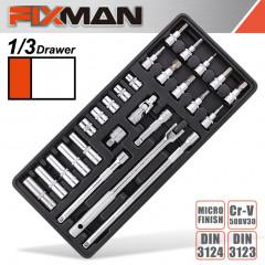 FIXMAN 26-PC 3/8' DR.SOCKETS & ACCESSORIES