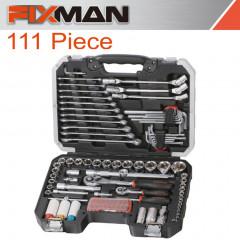 FIXMAN SOCKET TOOL SET 111PC 1/4'&1/2' DRIVE