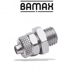 GAV STRAIGHT CONICAL 1/4 M PUSH IN FITTING FOR 6MM HOSE
