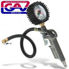 TYRE INFLATOR WITH GAUGE IN BLISTER