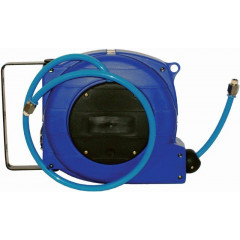 AIR HOSE REEL 9M X 8MM PU HOSE WALL MOUNTED IN PLASTIC CASE