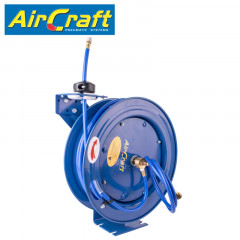 AIR HOSE REEL 8 X12MM PU HOSE 15M WITH 1/4'BSP FITTING METAL CASE
