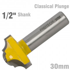 CLASSICAL PLUNGE CUTTING 30MM 1/2' SHANK