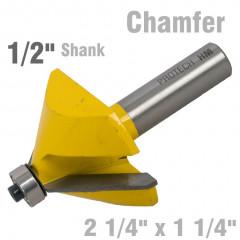 CHAMFER BIT 2 1/4' X 1 1/4' 1/2' SHANK
