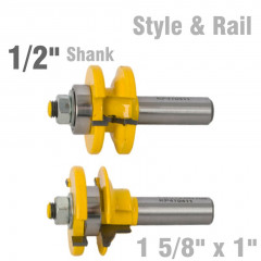 STYLE & RAIL SET 1 5/8' X 1' TWO PIECE OGEE 1/2' SHANK