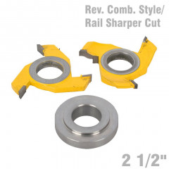 REVERSIBLE COMBINATION STYLE & RAIL SHAPER CUTTER DIAMETER 2 1/2'