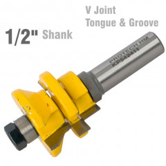 V JOINT TONGUE & GROOVE ASSEMBLY 1/2' SHANK