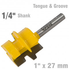 TONGUE AND GROOVE TAPER (WEDGE TAPER) 1' X 27MM 1/4' SHANK