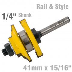 RAIL & STYLE OGEE RAIL & STYLE 41MM X 15/16' 1/4' SHANK