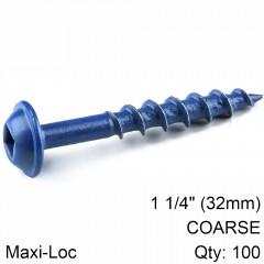 KREG BLUE KOTE POCKET HOLE SCREWS 32MM 1.25' #8 COARSE THREAD MX LOC 1