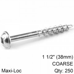 KREG ZINC POCKET HOLE SCREWS 38MM 1.50' #8 COARSE THREAD MX LOC 250CT