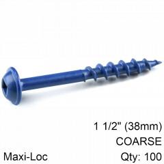 KREG BLUE KOTE POCKET HOLE SCREWS 38MM 1.50' #8 COARSE THREAD MX LOC 1