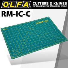 OLFA MAT ROTARY 450 X 300MM METRIC & INCH DOUBLE SIDED