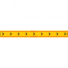 YELLOW ARROW RIGHT - 800MM X 80MM SOCIAL DISTANCING STRIPS