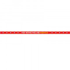 RED STAY WITHIN THIS LINE - 3000MM X 100MM SOCIAL DISTANCING STRIPS