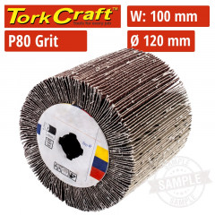 80 GRIT FLAP GRINDING WHEELS 120MMX100MM