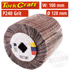 240 GRIT FLAP GRINDING WHEELS 120MMX100MM