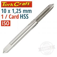 TAP HSS 10MM X 1.25 1 PER CARD