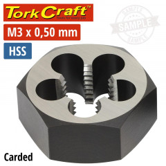 DIE HSS HEX 3X0.50MM 1' CARDED