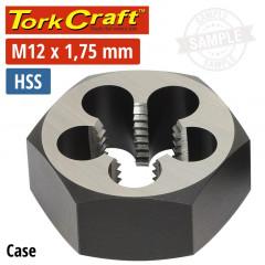 DIE HSS HEX 12X1.75MM 1'1/CASE