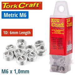 THREAD REPAIR KIT M6 X 1D REPLACEMENT INSERTS 10PCE