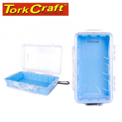 MICRO CASE BLUE 247 X 143 X 66MM SIL./LINER WITH CARABIN.CLIP