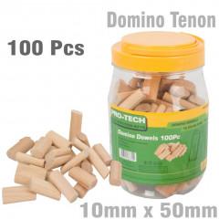 DOMINO TENON 10X50MM 100PC JAR BEECH WOOD