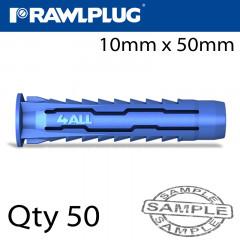 UNIVERSAL NYLON PLUG X10MMX50MM X50-BOX
