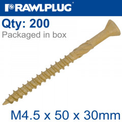 R-DSX SCREWS M4.5 X 50X30 GINGER RUSPERT X200-BOX