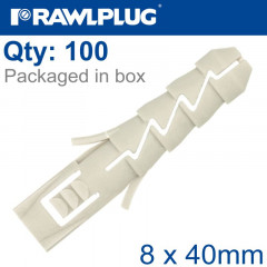 NYL EXPANSION PLUG 8MMX40MM X100-BOX