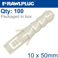 NYL EXPANSION PLUG 10MMX50MM X100-BOX