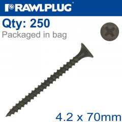 DRYWALL SCREW FINE THREAD 4.2MMX70MM X250-BOX