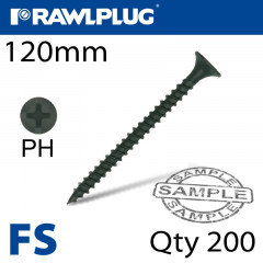 DRYWALL SCREW FINE THREAD 4.8MMX120MM X200-BOX