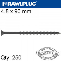 DRYWALL SCREW FINE THREAD 4.8MMX90MM X250-BOX