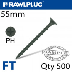 DRYWALL SCREW COARSE THREAD 3.5MMX55MM X500-BOX