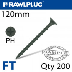 DRYWALL SCREW COARSE THREAD 4.8MMX120MM X200-BOX