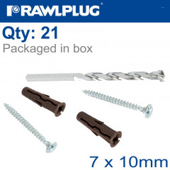 CURTAIN POLE KIT UNO07X10 WITH SCREWS AND 7MM DRILL BIT