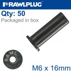 RAWLNUT M6X16MM X50-BOX
