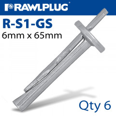 CEILING WEDGE ANCHOR 6X65MM 6 -BAG