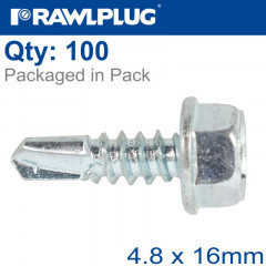 SELF DRILLING SCREWS 4,8X16MM 100PCS