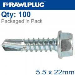 SELF DRILLING SCREWS 5,5X22MM, 100PCS