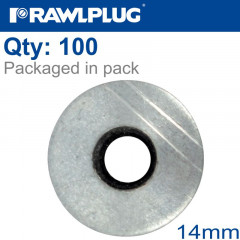 ALUMINUM WASHER 14MM, 100PCS