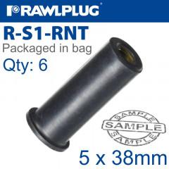 RAWLNUT M5X38MM X6-BAG
